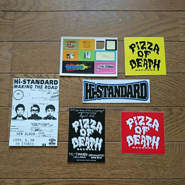 ハイスタンダード ステッカー ポストカード セット Hi-standard pizza of death WANIMA ワニマ ライブグッズの画像