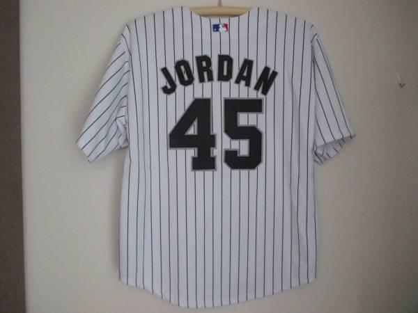 マイケル・ジョーダン MLBユニフォーム シカゴ・ホワイトソックス 背番号45ピンストライプ グッズの画像