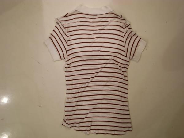 半額以下( XS ) Dior homme ボーダー ドレス ポロ シャツ 半袖 メンズ 白 ディオール オム エディスリマン 42 44 S キムジョーンズ Tシャツ_画像3