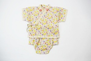 新品 スーリー souris 甚平 浴衣 夏祭り 花火 お花柄 ロンパース ベビー服 80cm