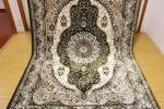 高級天然シルク100% ペルシャ柄絨毯 新品未使用 157×247 訳あり アウトレット グリーン