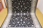 傢俱, 裝潢 - ペルシャ柄絨毯 150万ノット 新品未使用 160×230 訳あり アウトレット ブラック 黒