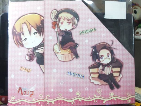ヘタリア☆アニくじ☆A4ファイルボックス(お菓子柄ちびキャラ②) グッズの画像