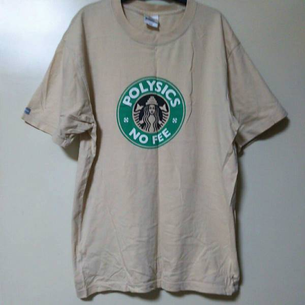 polysics ポリシックス スタバパロディー Tシャツ L