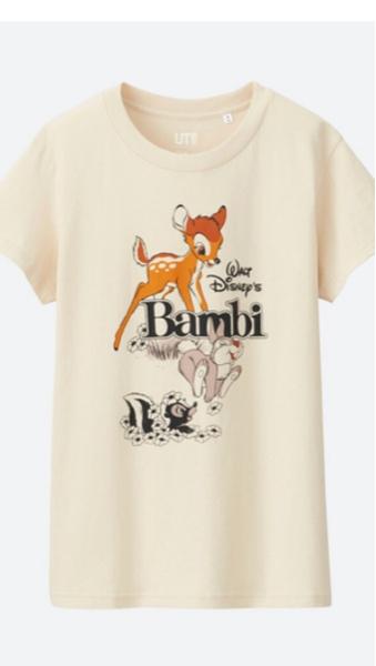 バンビ 新品 ユニクロ Lサイズ Tシャツ ディズニー ディズニーグッズの画像