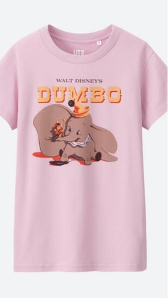 ユニクロ ディズニー Tシャツ ダンボ ピンク 新品 L ディズニーグッズの画像