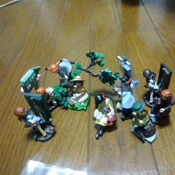 赤毛のアン、ラスカル、ピーターパン、トムソーヤのフィギュア ディズニーグッズの画像