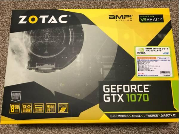 ZOTAC GTX 1070 AMP! Edition 完動品