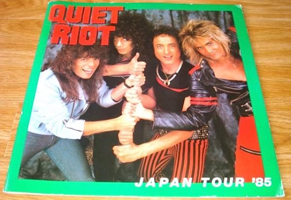 送料無料 クワイエットライオット コンサートパンフ QUIET RIOT JAPAN TOUR'85 ランディーローズ ハードロック ヘビーメタル