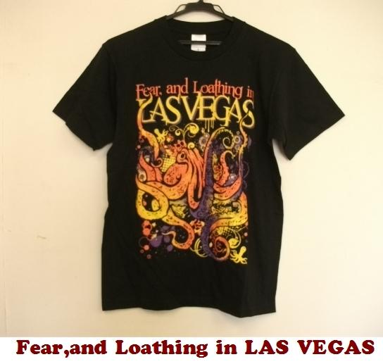 ■fear and loathing in las vegas フィアー・アンド・ロージング・イン・ラスベガス■オクトパス柄ツアーTシャツ たこ■黒ブラックS