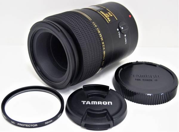 1★ タムロン TAMRON SP AF Di 90mm 1:2.8 MACRO 1:1 マクロ レンズ 前後レンズキャップ 付属 キャノン CANON用