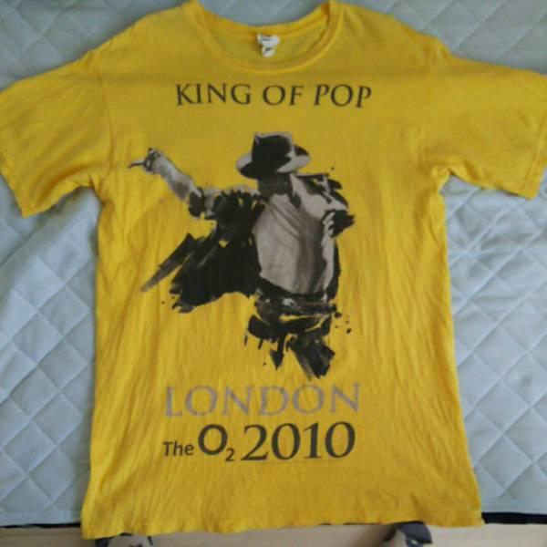 マイケルジャクソン 幻のロンドン公演限定Tシャツ Mサイズ 黄色 ライブグッズの画像