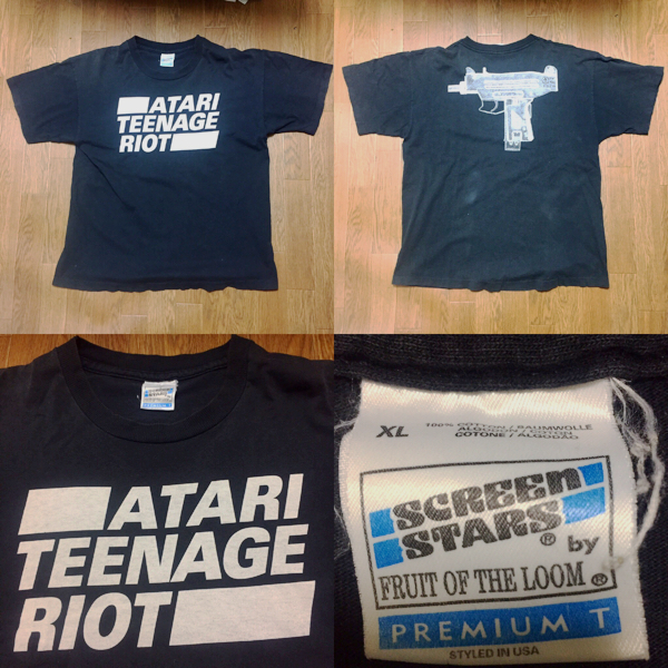 90s ATARI TEENAGE RIOT Tシャツ XL vintage 古着 nirvana sonicyouth fujirock DHR oasis fog seditionaries undercover