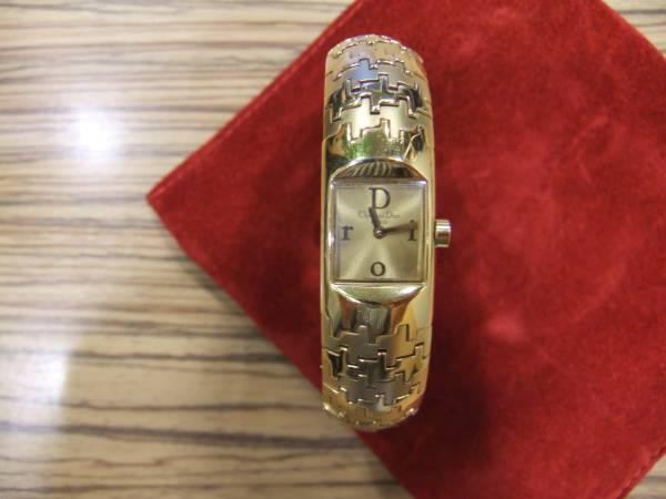 【☆本物美品◆クリスチャンディオール レディース腕時計 BY6814 クオーツ バングルタイプ ♪】