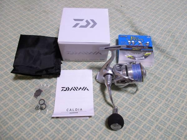 未使用品・ダイワ・11カルディア3520PE-SH + よつあみPEライン2号200mセット 検索)CALDIA3520PE-SH、ライトショアジギング