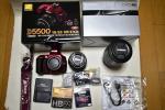 Nikon D5500 赤 AF-S VR18-55㎜+タムロン 70-300㎜ レンズセット  おまけ付 中古 美品