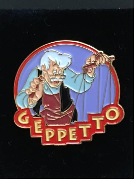 海外ディズニーランドパリ限定 ピノキオ ゼペット ピンバッジ ディズニーグッズの画像