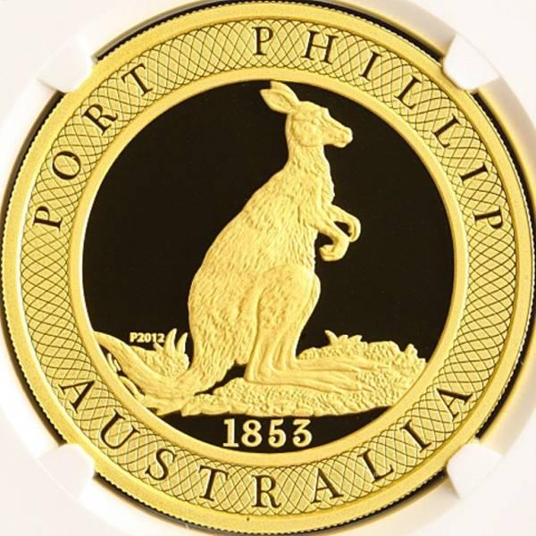 オーストラリア 2012P ポートフィリップ・カンガルー スミソニアンシリーズ 金貨 2oz NGC