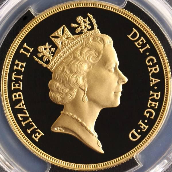 イギリス 1992 ミドルエリザベス2世 5ポンド 金貨 PCGS PR70 DEEP CAMEO 1円~