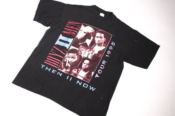 Vintage Boyz II Men THE II NOW 1995 Tour Tシャツ R&B RAP HIP HOP TEE SIZE XL