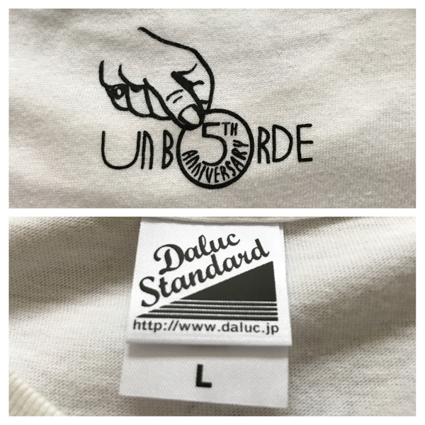 unborde UNBORDE アンボルデ レーベルTシャツ unBORDE 5th アニバーサリーTシャツ WANIMA ワニマ