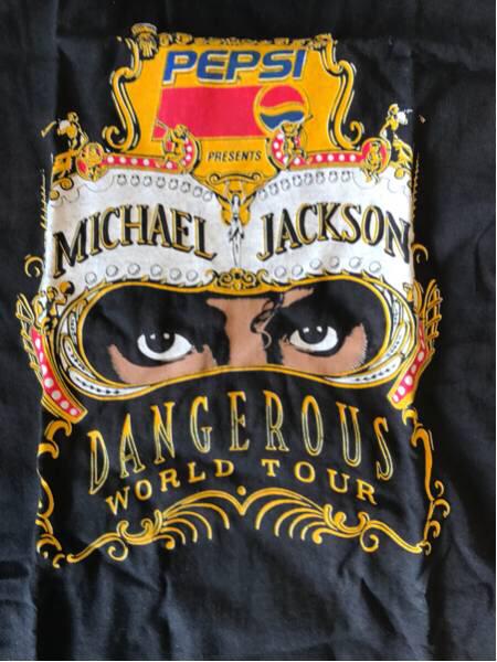 マイケルジャクソン Dangerous World Tour Tシャツ 米国製 Mサイズ 未使用品 ライブグッズの画像