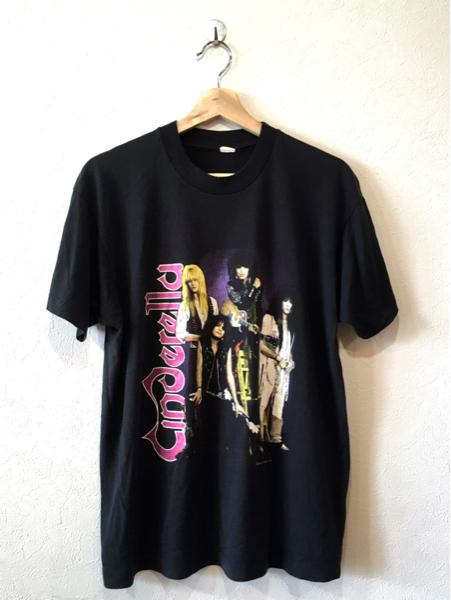 ★ 80s ビンテージ BLOOPERS Cinderella シンデレラ バンT 半袖 Tシャツ XL USA製 バンド ツアーT ヘヴィメタル