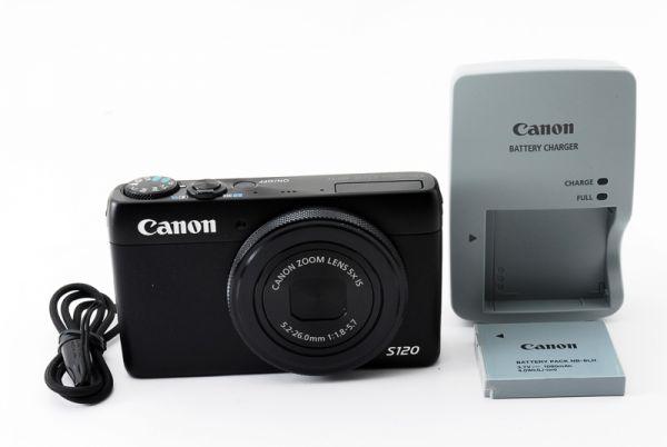 ★新品級★ Canon キャノン PowerShot パワーショット S120 ブラック 大人気コンパクトカメラ♪ @2629