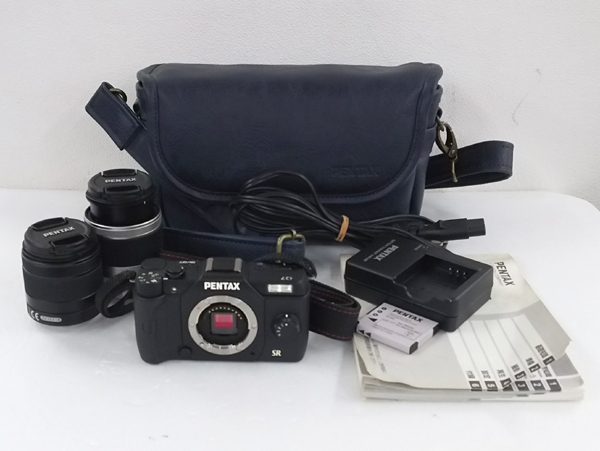 PENTAX ペンタックス Q7 ミラーレス デジタル一眼 カメラ ダブルズームキット ブラック