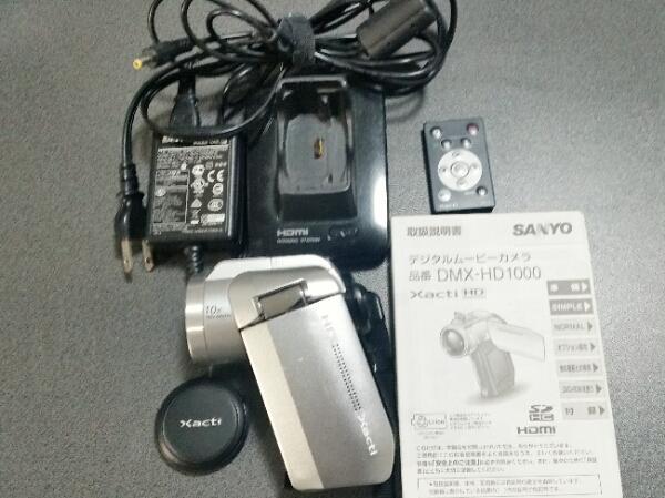 【SANYO】デジタルムービーカメラ Xacti ザクティ DMX-HD1000 説明書 リモコン付き