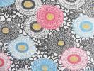 ■彩■古布着物はぎれ/ハギレ36×163 正絹 縮緬 菊唐草 生成り リメイク素材 小物 袋物
