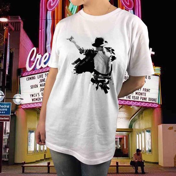 新品 マイケルジャクソン ダンスTシャツ サイズS~XL Michael Jackson マドンナ キングオブポップ ムーンウォーク スリラー BAD ジャネット ライブグッズの画像