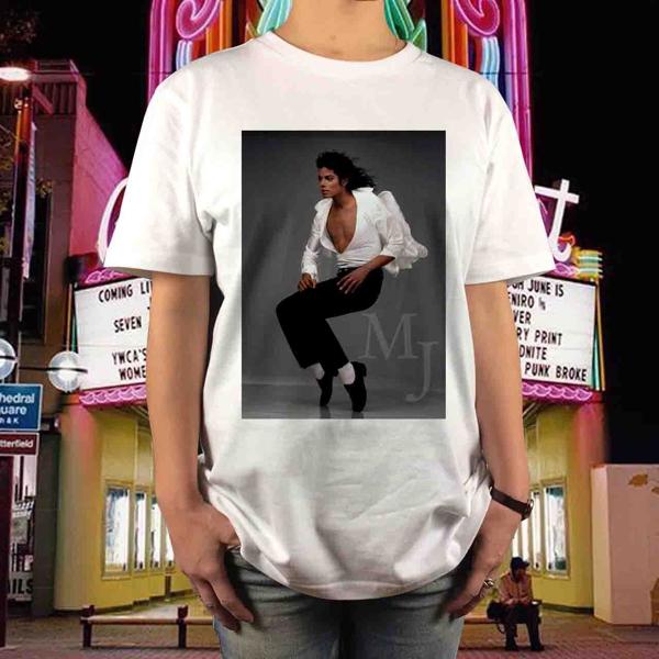 新品 マイケルジャクソン ダンス Tシャツ サイズS~XL MichaelJackson マドンナ キングオブポップ ムーンウォーク スリラー BAD ジャネット