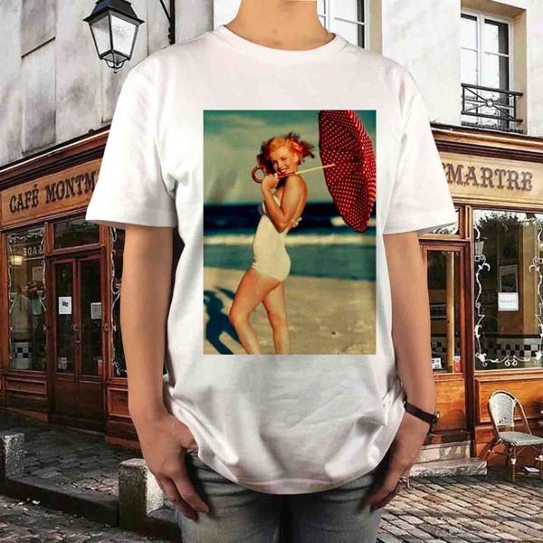 新品 マリリンモンロー Tシャツ S M L XL 映画 セクシー マドンナ 大きい ビッグ オーバー サイズ XXL 3XL 4XL 5XL ロンT 長袖 白 黒 グッズの画像