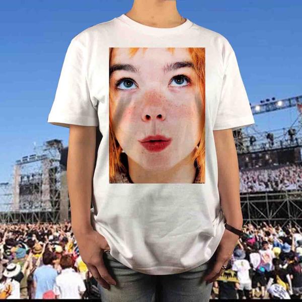 新品 Bjork ビョーク Tシャツ サイズS~XL フジロック ダンサーインザダーク JUDY AND MARY ジュディマリ YUKI ユキ メンズ レディース ライブグッズの画像