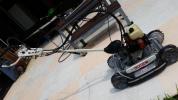 自走式 草刈機 オーレック スパイダーモアー SP850 平地でも斜面でも4WD!! ラクラク運べる専用台車つき!!