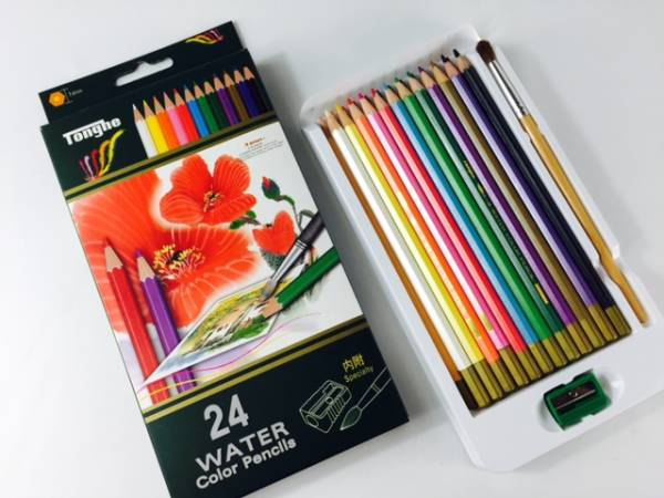 水彩色鉛筆アートセット 24色水彩色鉛筆!これと水さえあれば、立派な水彩画に お子様でも大人でも誰でも楽しめます 送料無料_画像3