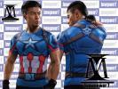 [M] Captain America comp reshon внутренний M размер короткий рукав Z01 задняя сторона ремень дизайн в Японии не продается Under Armor стоимость доставки 164 иен Ⅰ