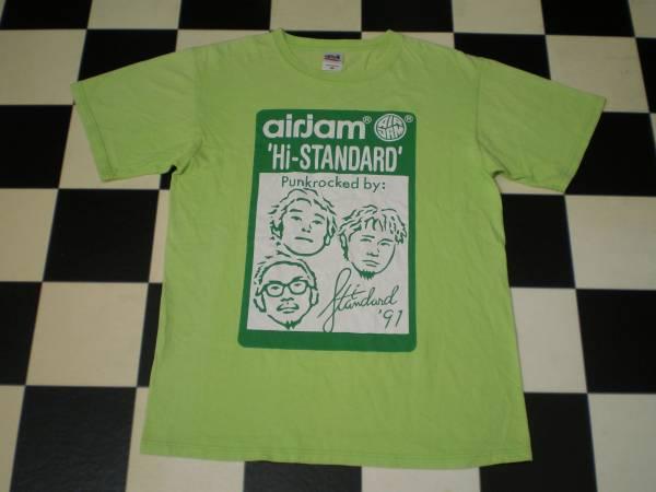 HI-STABDARD ハイスタンダード AIR JAM エアジャム 2011 Tシャツ Mサイズ ハードコア パンク オルタナティヴ ロック バンド PIZZA OF DEATH ライブグッズの画像