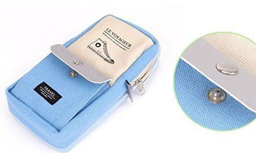 ペンケース パステルカラー シンプル スニーカー ポケット付き (ライトブルー)_画像2