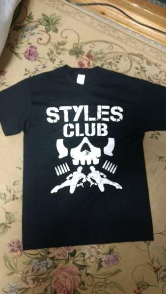 海外直輸入 新品 M AJスタイルズ Tシャツ ケニーオメガ 新日本 プロレス BULLET CLUB バレットクラブ カールアンダーソン WWE WWF WCW NWO グッズの画像