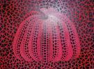 ■草間彌生■ 『かぼちゃ』 ◎油彩画・肉筆◎ ★F4号 赤いかぼちゃ 1984年★
