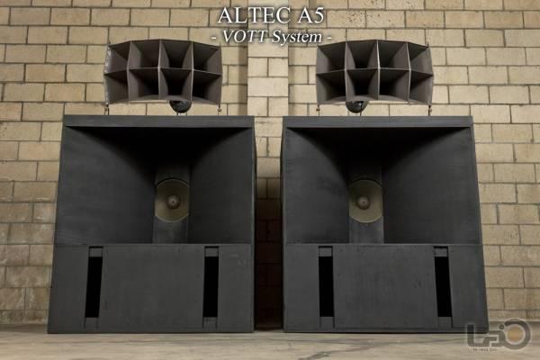 アルテック ALTEC A5 (515/288/N500C) 劇場特大スピーカー 米松合板・最初期RWBユニット ペア