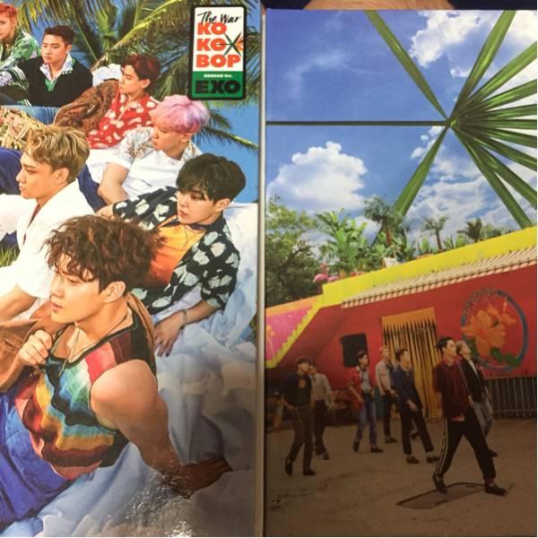 EXO エクソ CD korea A B バージョン セット 開封済み トレカ無し ライブグッズの画像