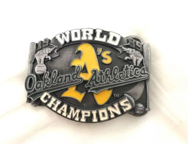 オークランドアスレチックス 1989年 ワールドチャンピオン 記念 バックル MLB ベルト ビンテージ アメカジ メジャーリーグ グッズの画像