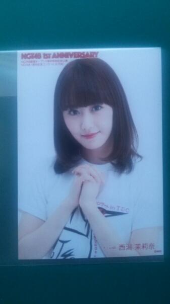 NGT48 1st ANNIVERSARY DVD 予約者特典写真 西潟茉莉奈 ライブグッズの画像