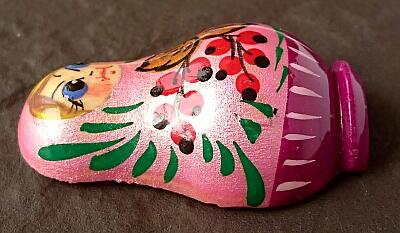 ★マトリョーシカ マグネット ロシア モスクワ 手描き 木製 新品 日本未発売商品 17_こちらは、側面の参考写真です。