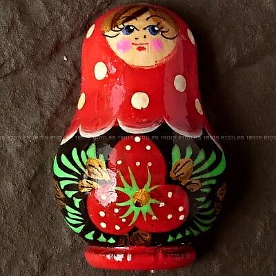 ★マトリョーシカ マグネット ロシア モスクワ 手描き 木製 新品 日本未発売商品 17_画像1