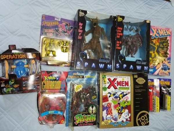 アメコミ フィギュア まとめ売り スパイダーマン X-MEN スポーン  オモチャなど グッズの画像