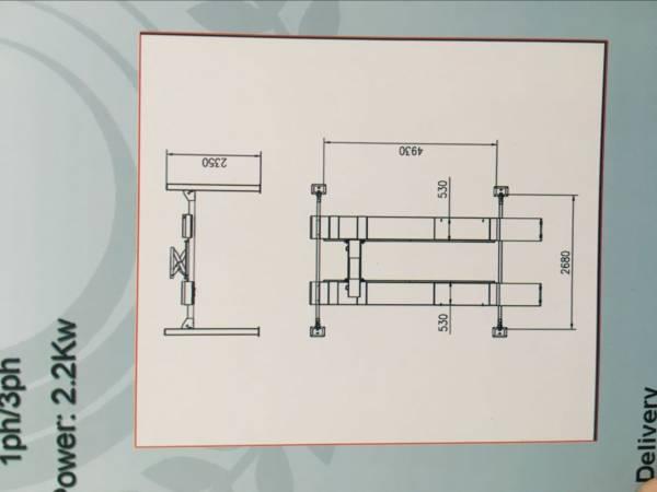卸売リ☆新品☆4トン 4柱リフト 新型電動ロック パーキングリフトCE認証取得済み商品で安心 、 独自の落下防止装置、安全装置を装備_画像3